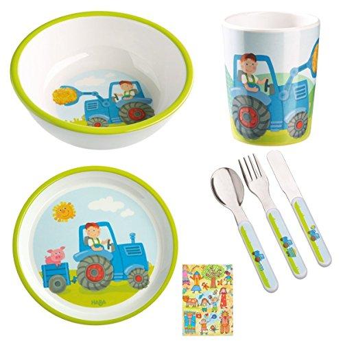 Haba Geschenkset Traktor 4-teilig Geburtsgeschenk oder Mitbringsel inkl. - Traktor-becher