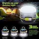 Lixada 3W 280LM 3 Modi Camping Laterne 3000mAh Powerbank USB Wiederaufladbaren mit Magnet 12LEDs -