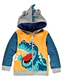 Garsumiss Kids Hooded Jungen Pullover Dinosaurier Sweat Shirt Headwear Jacke