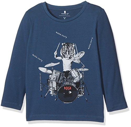 NAME IT Baby-Jungen Langarmshirt Nitgeband LS Top M Mini Blau (Ensign Blue), 92