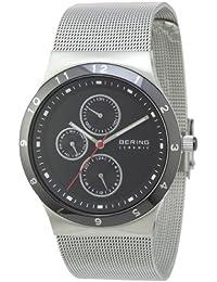Bering Time 32139-042 - Reloj analógico de cuarzo para hombre con correa de acero inoxidable, color plateado