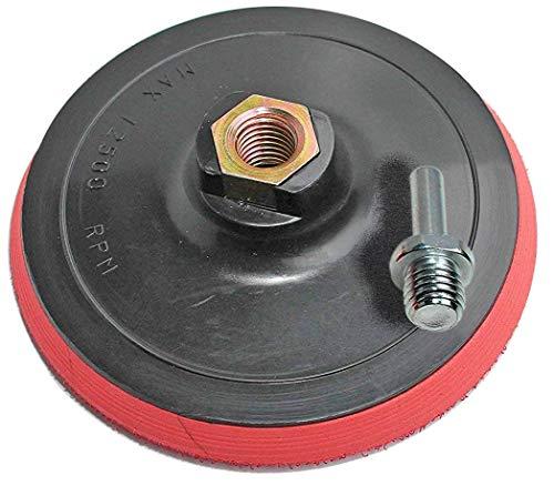 Schleifteller mit Klett M14 125mm inkl. Spanndorn für Bohrmaschine