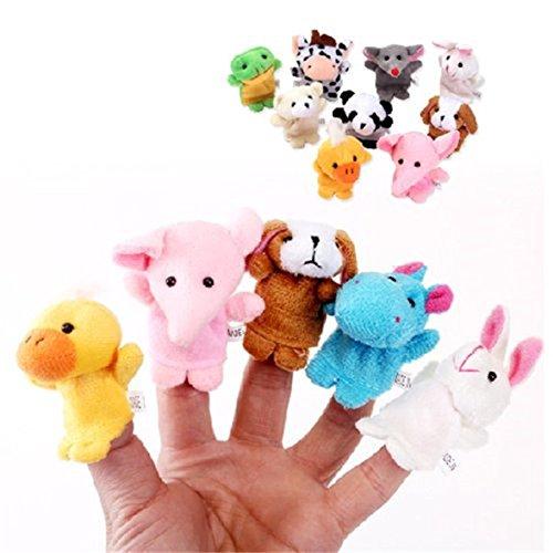 10 Unidades Marionetas Dedo Estilo Animal