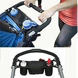 vycloud (TM) 1pc organizador negro portátil multifuncional bebé silla de paseo Buggy carrito botella para colgar cesta regalo de mamá cochecito accesorios