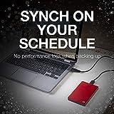 Seagate Backup Plus Slim 2TB Portable External Hard Drive USB 3.0, Red (STDR2000103)
