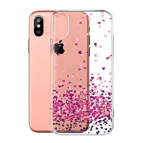 Per iPhone X Cover , YIGA Moda palloncino unicorno Cristallo Trasparente Silicone Morbido TPU Case Protezione Custodia per Apple iPhone X (5,8 pollici) WM85