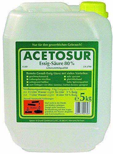 Acetosur Essig-Säure 80{b9dca443e2c4ca9363bd048bbf36257cb8de4b2732d10b5e86ef5bb73dd8f0b3}