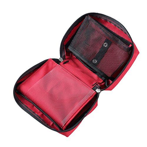 MagiDeal Erste-Hilfe-Kit Tasche leer für Haus, Fahrzeug, Reise, Büro, Arbeitsplatz, Wandern, Outdoor Survival, Rettung
