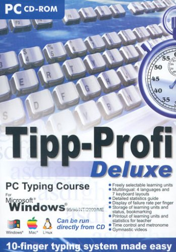 Tipp-Profi Deluxe (e) - 10-finger typing system made easy