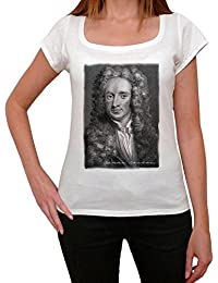 Isaac Newton, tee shirt femme, imprimé célébrité,Blanc, t shirt femme,cadeau