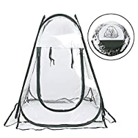 ASSR Mini Collapsible Greenhouse, Transparent PVC Small Indoor Outdoor Gardening Flowerpot Cover Backyard Flower Shelter for Cold Frost Protector Garden Plants