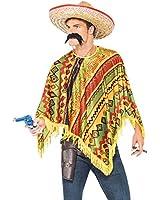 Men'S Instant Mexican Bandit Fancy Dress Costume