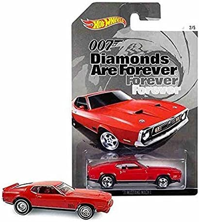 HOT WHEELS 007 DIAMONDS ARE FOREVER RED '71 MUSTANG MACH MACH MACH 1 2/5 by Hot Wheels | La Mise à Jour De Style  061437