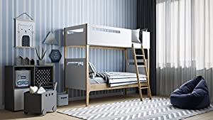 Kidsaw Solar Bunk Bed, Wood, White, Single