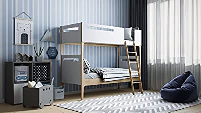 Kidsaw Solar Bunk Bed, Wood, White, Single