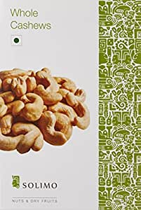 Amazon Brand - Solimo Premium Cashews, 250g
