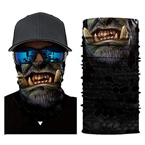 Magischer Schal, Schlauch Maske, Kopftuch Maske, Nahtlose Kopftuch Digital Printing, Magisch 16 Ways to Wear, Clown Outdoor Sport (4 Stück) (Color : E) -
