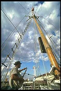 Plaque en métal Grand Voilier bateau Navire 257015 La Perle Noire Black Pearl conducteur sur planche et Banjo A4–Lot de 12 8 en Aluminium