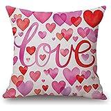 Fundas de Cojines,SHOBDW Regalo de San Valentin Throw Pillowcase Protector Sweet Love Square Romántico