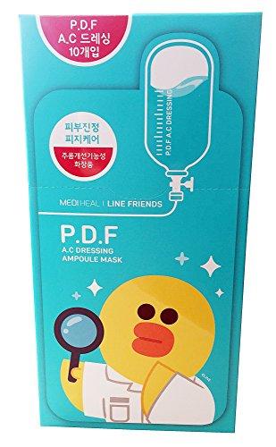 Mediheal Line Friends Ampulle Masken PDF AC Dressing Talg Beruhigend Hautpflege