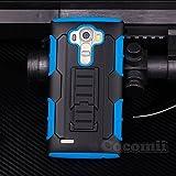 LG G4 Stylus / LG G4 Note Custodia, Cocomii Robot Armor NEW [Heavy Duty] Premium Belt Clip Holster Kickstand Shockproof Hard Bumper Shell [Military Defender] Full Body Dual Layer Rugged Cover Case Paraurti LS770 H631 MS631 (Blue)
