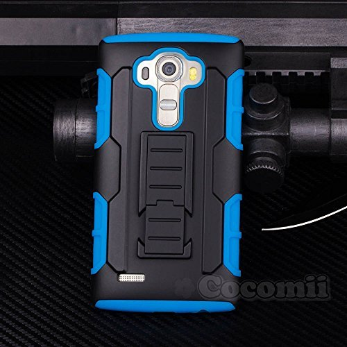 Lg g4 stylus / lg g4 note custodia, cocomii robot armor new [heavy duty] premium belt clip holster kickstand shockproof hard bumper shell [military defender] full body dual layer rugged cover case paraurti ls770 h631 ms631 (blue)