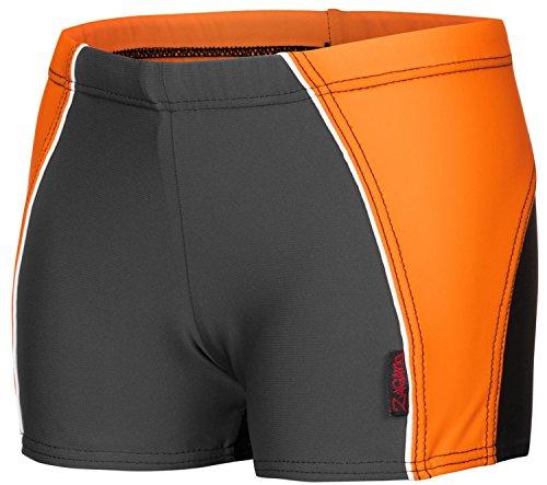 Zagano 2817 - Bañador niños negro naranja 158 cm