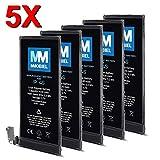 MMOBIEL 5er Pack Akkus für iPhone 4S Li-Ion Set Ersatz Akku Batterie 3.7V 1430mAh 5.3Wh