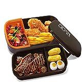 Oursun Lunch Box Bento Compartiment Avec Couverts Lunchbox Bento Boîte À Déjeuner Boîte À Repas Sans BPA Pour Adultes Et Enfants