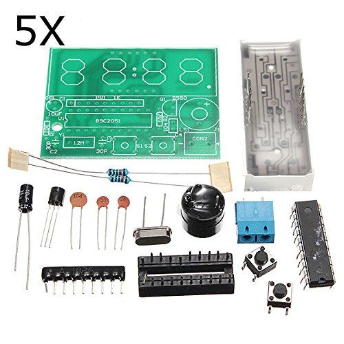 ILS - 5 Stück C51 4 Bits Elektronische Uhr Elektronische Production Suite Bausätze