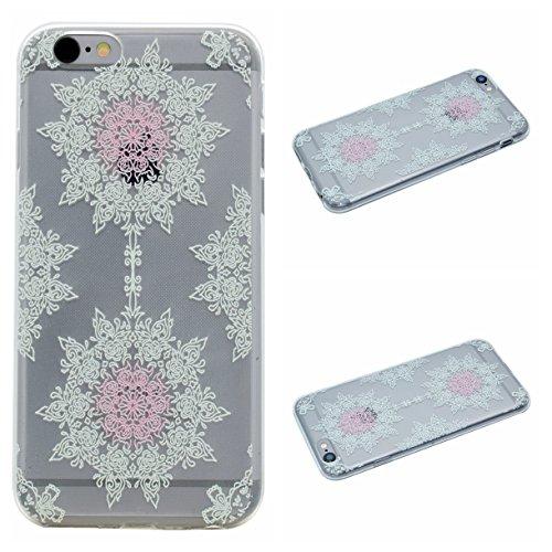 Apple iPhone 6/6S 4.7 Hülle, Voguecase Schutzhülle / Case / Cover / Hülle / TPU Gel Skin (Zwei katze) + Gratis Universal Eingabestift Hellgrünes Muster