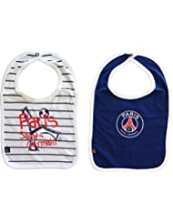 Lot de 2 bavoirs PSG bébé garçon - Collection officielle Paris Saint Germain - Football