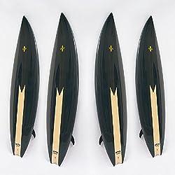 VIO Planche de Surf Professionnelle pour Enfants Adultes pour Les débutants Skis Stand-up Hardboard,Noir,Taille Unique