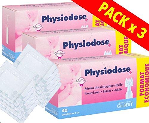 Physiodose Sérum physiologiques Lot de 3 boîtes de 40...