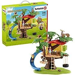 Schleich Farm World Playset Cabane Aventure dans Les Arbres, 42408, Multicolore