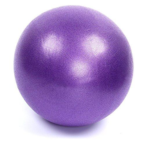 Mini pelota de yoga o pilates, de la marca Latinaric, 25 cm, morado