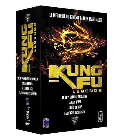 Coffret Kung Fu legends 4 DVD : La 36ème chambre de Shaolin / La rage du tigre / Le justicier de Shangaï / La main de fer