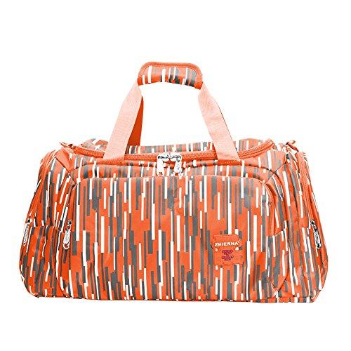 Neuleben Wasserabweisend Sporttasche für Sport Fitness Reise Damen Mädchen Reisetasche 30 Liter Orange
