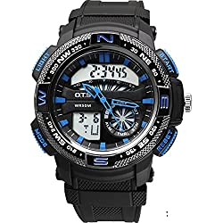 boys digital watch/ simple dual watch/Youth waterproof watch-A