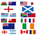 Rugby World Cup 2015 National Country Large Quality Supporter Fans Flag - All Participating Nations Available from My Planet