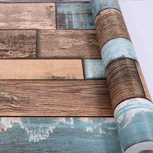 Hode Pellicola in Vinile Autoadesiva, Carta da Parati, Retro Adesivo, Rotolo di Plastica, Wood, 45X2cm