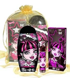 Ensemble Monster High Draculaura - Eau de Parfum - 15 ml et Gel-douche/Shampoing 2 en 1 - 250 ml