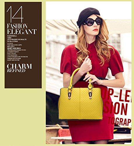NICOLE&DORIS tendenza della borsa di modo femminile grande borsa retrò borse sacchetto di spalla casuale borsa Messenger per le donne(Rose�?Yellow