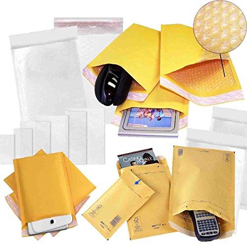 comtechlogic cm-5088Gepolsterte Luftpolsterfolie gefüttert umhült Staubbeutel Versandtaschen Porto Verpackung Gold selbstklebend, H/5-270x360mm, braun, 10