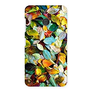 Stylish Colorfull Leafs Back Case Cover for Lumia 530