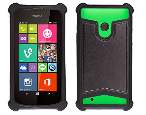 Shopme Shock proof,Silicon,Premium PU Leather Back cover for NOKIA Lumia 530 Dual (Black Color) (Special Anti Shock Bumpers on all four sides , 360 degress Protection, Access to all Ports)  available at amazon for Rs.219