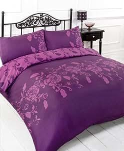 Dimensions pour lit pour une personne aubergine parure de - Dimension lit une personne ...