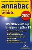Mathématiques Informatique Enseignement scientifique 1e L : Sujets et corrigés