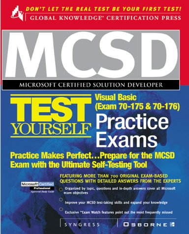 Mcsd Visual Basic Test Yourself Practice Exams: Exam 70-175 & 70-176 (Certification Press) por Syngress Media