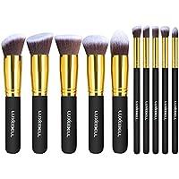 LuxeBell® 10pcs Pinceles de maquillaje Set profesional maquillaje Cejas sombra xxl-cosmetic Foundation Concealer–Juego de escobillas